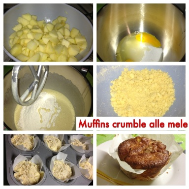Muffin crumble alle mele